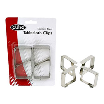 D.Line Stainless Steel Tablecloth Clips - Set of 4