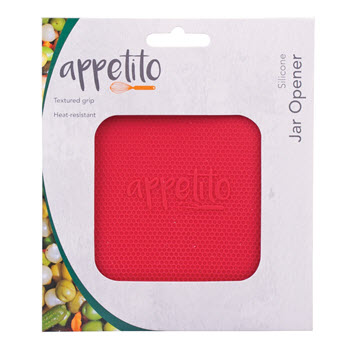 Appetito Red Silicone Jar Opener
