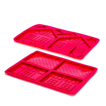 D.Line 3D Set of 2 Silicone Gingerbread House Chocolate Mould