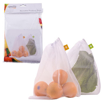 Appetito Mesh Produce Bags Set of 5