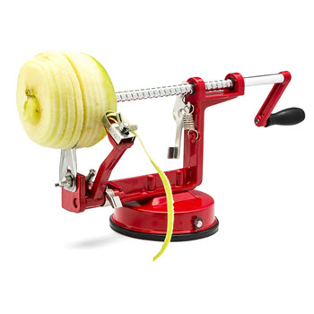 D.Line Apple Peeler, Corer, and Slicer Red