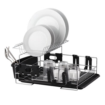 D.Line 2 Tier Stainless Steel Dish Rack With Draining Board