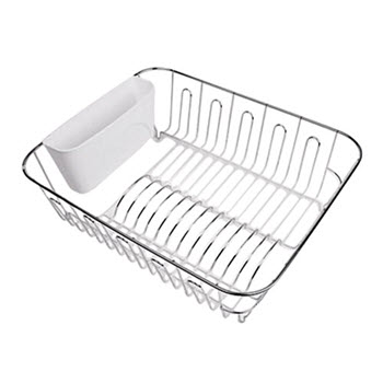 D.Line Large Dish Drainer Chrome