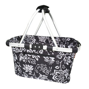 Sachi Foldable 2 Handle Carry Basket Camellia Black