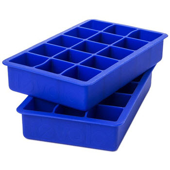 Tovolo Set of 2  Perfect Cube Ice Tray Blue