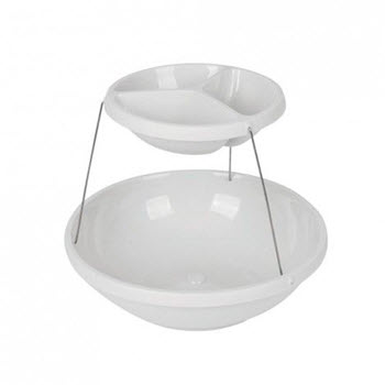 Fozzils 2 Tier Twistfold Party Bowl White