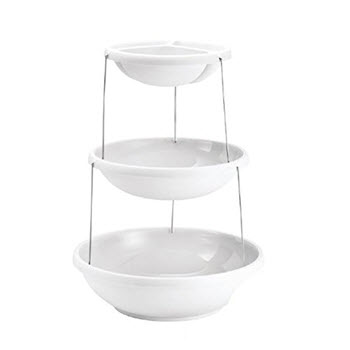 Fozzils 3 Tier Twistfold Party Bowl White