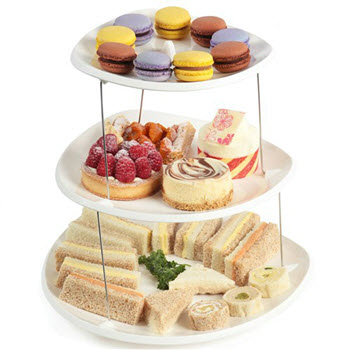 Fozzils 3 Tier Twistfold Party Plate White