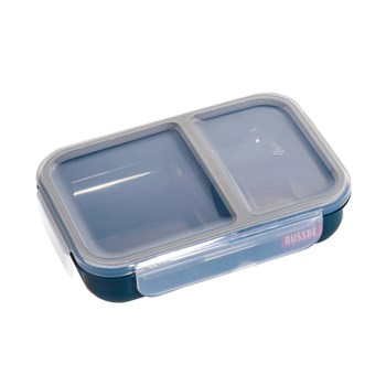 Russbe Plastic Lunch Bento 2-Compartment 680ml Navy