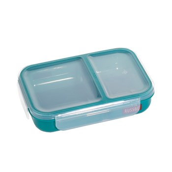 Russbe Plastic Lunch Bento 2-Compartment 680ml Teal