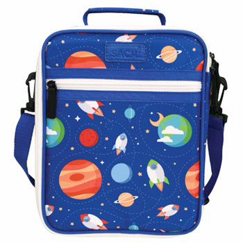 Sachi Insulated Kids Outer Space Lunch Tote