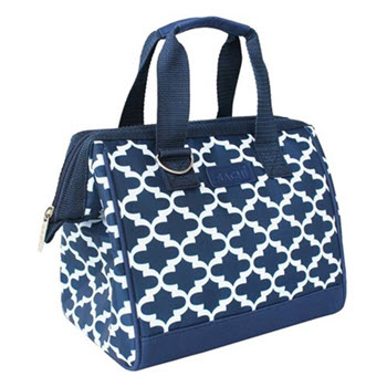 Sachi Insulated Moroccan Navy Lunch Bag