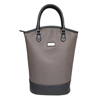 Sachi Insulated Two Bottle Wine Tote Charcoal