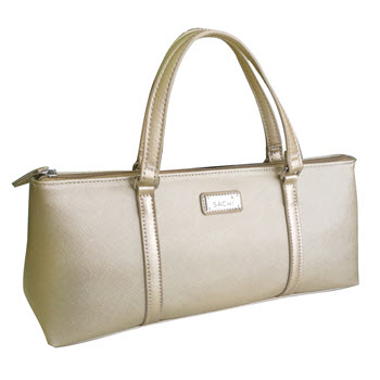 Sachi Insulated Champagne Gold Wine Purse