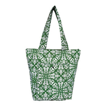 Sachi Insulated Market Tote Bohemian Green