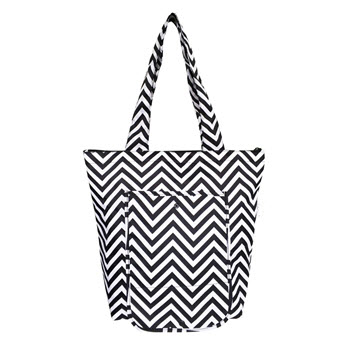 Sachi Insulated Market Tote Chevron Stripe