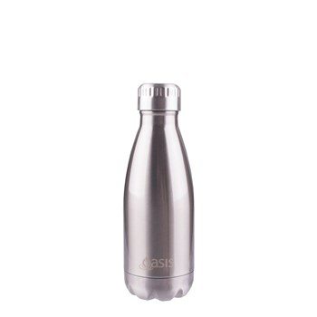 D.Line Oasis Insulated Drink Bottle 350ml Silver