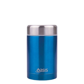 D.Line Oasis 450ml Food Flask Stainless Steel Aqua