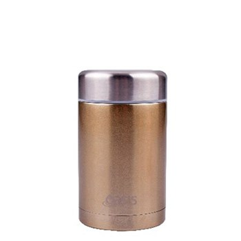 D.Line Oasis 450ml Food Flask Stainless Steel Champagne