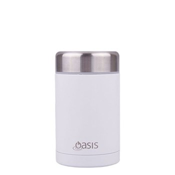 D.Line Oasis 450ml Food Flask Stainless Steel White
