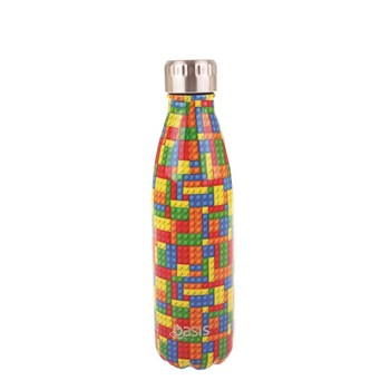 Oasis Insulated Stainless Steel Water Bottle 500ml Bricks