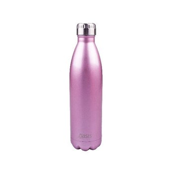 D.Line Oasis 500ml Insulated Drink Bottle Stainless Steel Blush