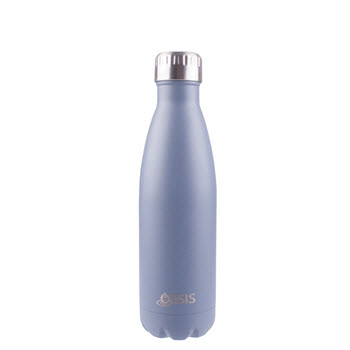 D.Line Oasis Insulated Drink Bottle 500ml Matte Grey