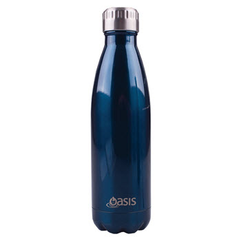 D.Line Oasis 500ml Insulated Drink Bottle Stainless Steel Navy