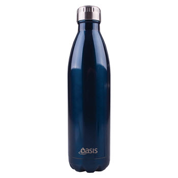 D.Line Oasis 750ml Insulated Drink Bottle Stainless Steel Navy