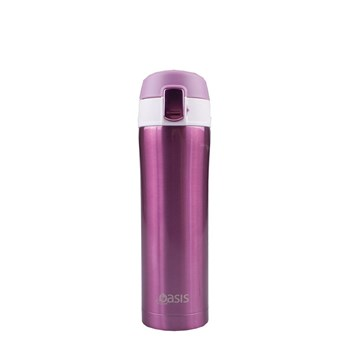 D.Line Oasis 450ml Flip-Top Vacuum Flask Blush