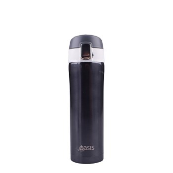 D.Line Oasis 450ml Flip-Top Vacuum Flask Gun Metal