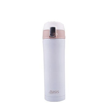 D.Line Oasis 450ml Flip-Top Vacuum Flask White