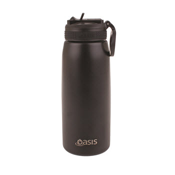 Oasis Insulated Sports Water Bottle With Straw 780ml Black