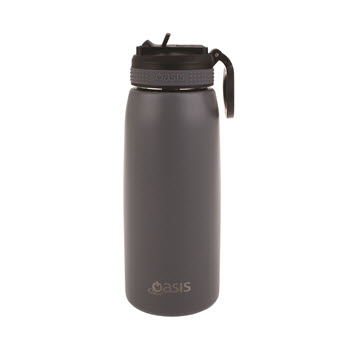 Oasis Insulated Sports Water Bottle With Straw 780ml Steel