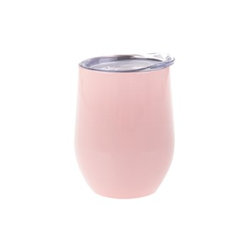 Oasis Stainless Steel Double Walled Stemless Wine Tumbler 330ml Soft Pink