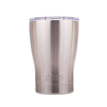 D.Line Oasis Insulated Coffee Cup with Lid Silver