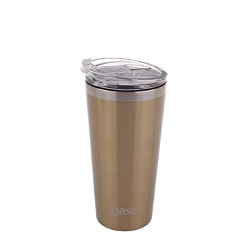 Oasis Insulated Travel Mug 480ml Champagne