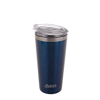 Oasis Insulated Travel Mug 480ml Navy