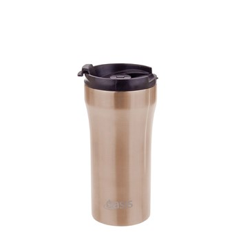 Oasis Insulated Plunger Travel Cup 350ml Champagne