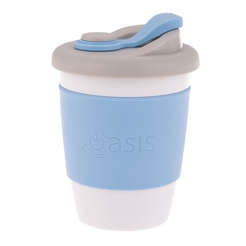 Oasis Biodegradable Plastic & Silicone Eco Cup 340ml Powder Blue