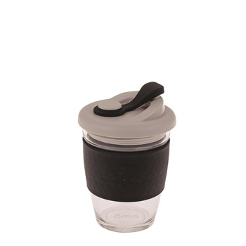 Oasis Eco-Cup Borosilicate Glass Black 340ml
