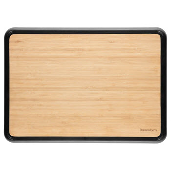 Dreamfarm Big Fledge Double Sided Chopping Board Bamboo 36 x 25cm