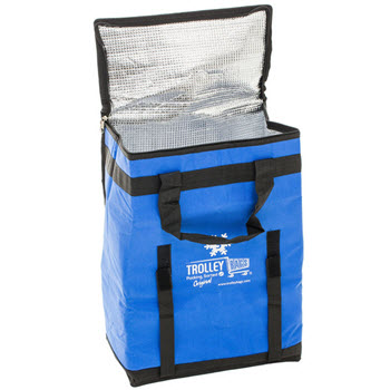 Trolley Bags Reusable Insulated Cooler Bag Blue
