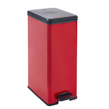 Curver Deco 40L Slim Bin Red