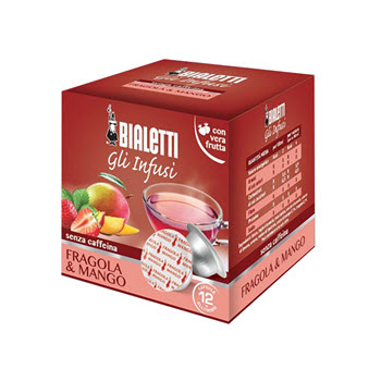 Bialetti Strawberry & Mango Tea Capsules Pack of 12