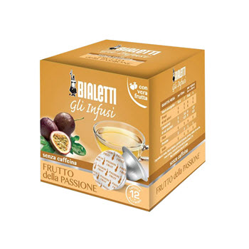 Bialetti Passionfruit Tea Capsules Pack of 12