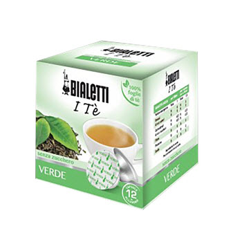 Bialetti Green Tea Capsules Pack of 12