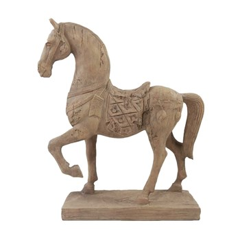 Florabelle Living Polyresin Selle Francais Horse Ornament 8 x 33 x 37cm Brown