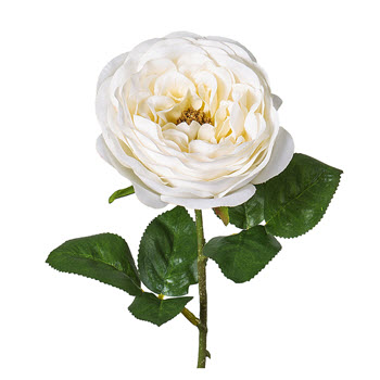 Florabelle Rose Spray White 45cm