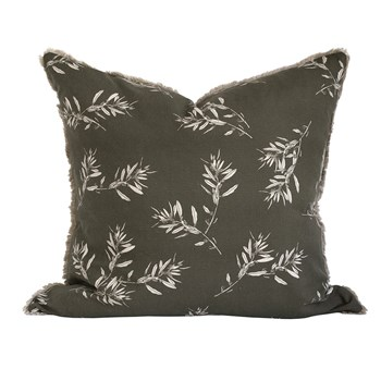 Raine & Humble Olive Grove Cotton Cushion 60 x 60cm Olive Green